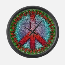Abstract Peace Sign Large Wall Clock