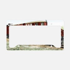 Early electric train License Plate Holder