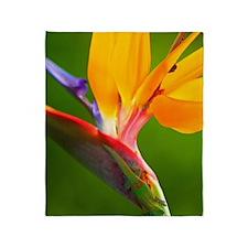 Bird of Paradise Flower #1 Throw Blanket