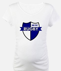 Rugby Shield White Blue Shirt