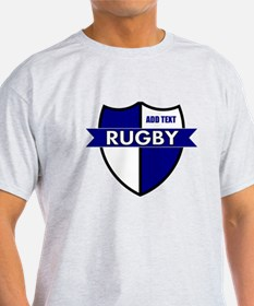 Rugby Shield White Blue T-Shirt