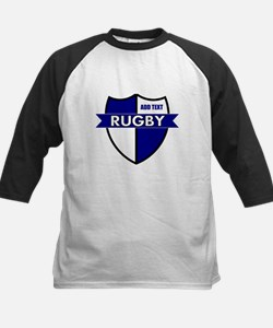 Rugby Shield White Blue Tee