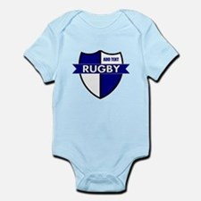 Rugby Shield White Blue Infant Bodysuit