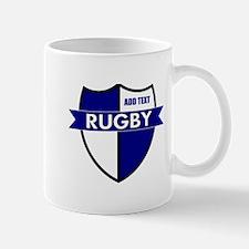 Rugby Shield White Blue Mug