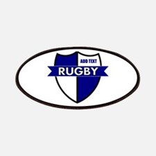 Rugby Shield White Blue Patches