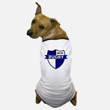 Rugby Shield White Blue Dog T-Shirt