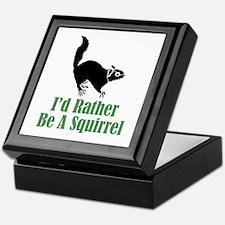 Rather Be A Squirrel Keepsake Box