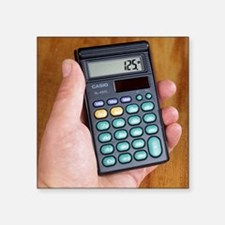 "Electronic calculator Square Sticker 3"" x 3"""