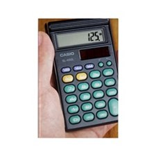 Electronic calculator Rectangle Magnet
