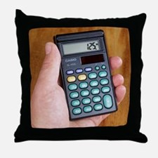 Electronic calculator Throw Pillow