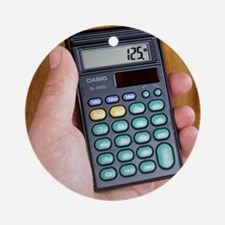 Electronic calculator Round Ornament