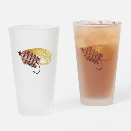 Golden Butterfly Drinking Glass