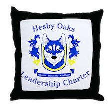 Hesby Oaks Formal Logo Throw Pillow