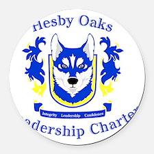 Hesby Oaks Formal Logo Round Car Magnet