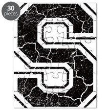 Letter S in black vintage look Puzzle