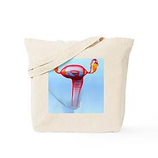 Female reproductive system, artwork Tote Bag