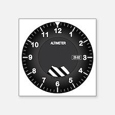 """Altimeter Wall Clock Square Sticker 3"""" x 3"""""""