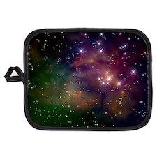 Colorful Space Star Nebula Potholder