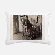 Electric chair, 1908 Rectangular Canvas Pillow