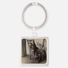 Electric chair, 1908 Square Keychain
