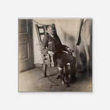 """Electric chair, 1908 Square Sticker 3"""" x 3"""""""
