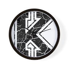 Letter K in black vintage look Wall Clock