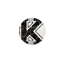 Letter K in black vintage look Mini Button