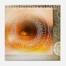 Eye scanning Tile Coaster