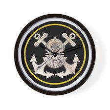 3-Bolt Dive Helmet and Anchors Wall Clock