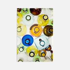 Empty glass bottles Rectangle Magnet
