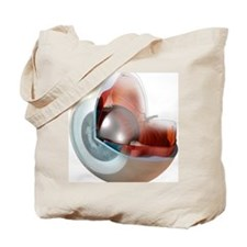 Eye anatomy, artwork Tote Bag