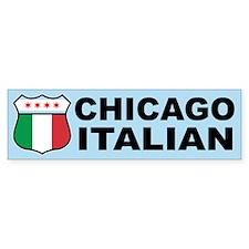 Chicago Italian American Bumper Bumper Sticker