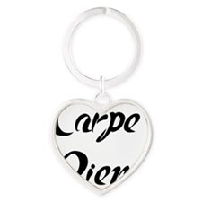 carpe diem Heart Keychain