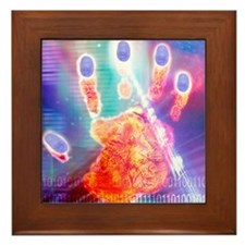 Hand biometrics Framed Tile