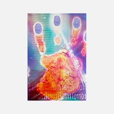 Hand biometrics Rectangle Magnet