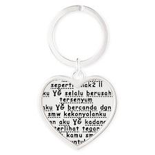 Rapuh Heart Keychain