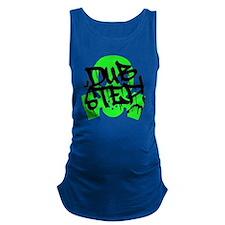 Dubstep Green Gas Mask Maternity Tank Top
