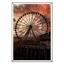 The Seattle Pier in Red Banner