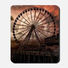 The Seattle Pier in Red Mousepad