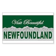 Visit Beautiful Newfoundland Rectangle Decal