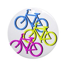 Bicycles Round Ornament