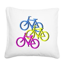 Bicycles Square Canvas Pillow