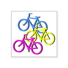 "Bicycles Square Sticker 3"" x 3"""