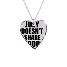 Joey Doesnt Share Food Necklace Heart Charm