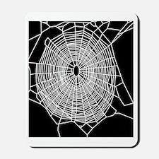 Garden spider web, computer artwork Mousepad