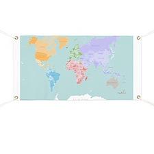 World Map - Modern Design Banner