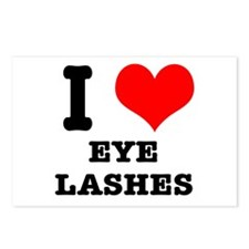 I Heart (Love) Eyelashes Postcards (Package of 8)