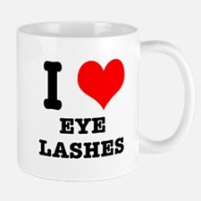 I Heart (Love) Eyelashes Mug