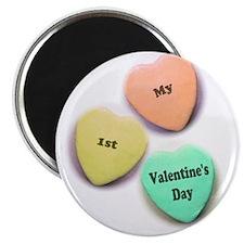 Babys 1st Valentines Day Magnet