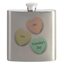 Babys 1st Valentines Day Flask